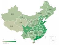 全国各省份创业竞争力地图
