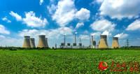 徐州传统火力发电企业远景示意:蓝天白云不是梦。