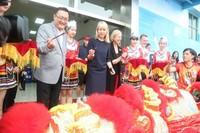 海口市政府副市长孙世文参加欢迎仪式