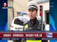安徽滁州:车辆牌照丢失  司机竟画个车牌上路