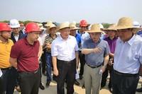 林东一行在万洋高速儋州段调研