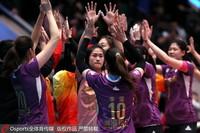 天津队员庆祝胜利