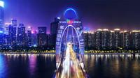 多益网络携黄子韬点亮广州猎德大桥