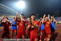 中国U19国家青年队赛后谢场