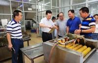 谢雄峰在儋州广和食品有限公司了解清洗粽叶工序