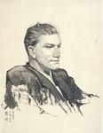 中央美院的洋学生1953年   纸本水墨 32.5X24cm