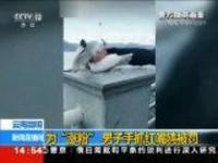 """云南昆明 为""""涨粉"""" 男子手抓红嘴鸥被罚"""