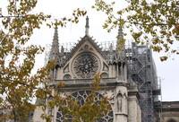 4月16日在法国巴黎拍摄的火灾后的巴黎圣母院。新华社记者高静摄