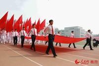 国旗方阵展示环节 卢静/摄
