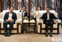 2019年5月16日,亚洲青年文化交流活动在中国宋庆龄青少年科技文化交流中心举行,有200余名中外方青年代表参加了这一活动。图为宋庆龄基金杭元祥常务副主席会见外方主要代表。 记者 管克江 摄