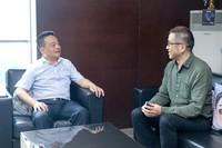 苏宁易购总裁侯恩龙与瑞鹏宠物医疗集团董事长彭永鹤会晤