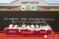 第十七届中国(海南)荔枝龙眼产销对接活动暨2019海口火山荔枝节开幕