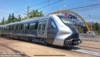 6月18日拍摄的我国下一代碳纤维地铁列车外观。