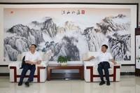 林一民与福州大学副校长黄志刚交流洽谈