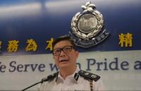 8月12日,在香港警察总部,香港特区政府警务处副处长邓炳强在记者会上介绍相关情况。