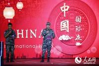 中国驻黎巴嫩大使馆武官欧阳海生大校致辞。彭希摄影