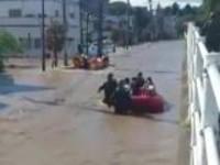 """强台风""""海贝思""""影响东日本:大批民众转移  救援工作仍在持续"""