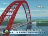 联播快讯:主跨575米  贵港平南三桥首节段拱助吊装完成