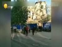 吉林省白城市洮北区一大象信用社办公楼房倒塌