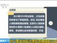 孙小果出狱后涉黑犯罪被提起公诉