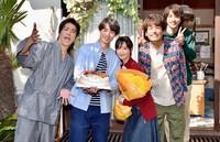 左から)桐谷健太、福士蒼汰、菜々緒、佐藤隆太、横浜流星