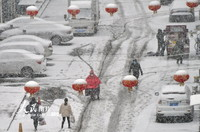 2020年2月15日,山东烟台出现大范围降雪天气。