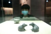 2020年3月17日, 市民在贵州省毕节市博物馆参观。