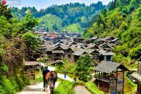 8月16日拍摄的贵州小黄侗寨。