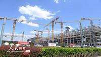 2020年5月24日,施工中的北京国家会议中心二期工程。