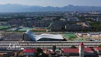 2020年7月20日,北京冬奥会交通服务配套设施京张高铁延庆站外貌。