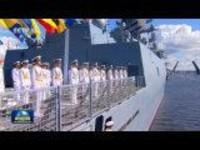俄罗斯举行阅兵庆祝海军节