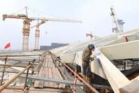 这是7月29日在北京拍摄的国家会议中心二期建设工地现场。新华社记者 任超 摄