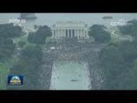 美国华盛顿举行大规模反种族歧视集会