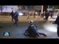 美国波特兰抗议活动进入第100天