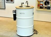 东京街头出现不使用自来水的洗手台 还可为手机消毒(图片来源:朝日新闻网站)