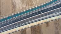 这是12月22日拍摄的津石高速(无人机照片)。