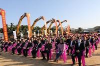 海南自由贸易港建设项目集中开工仪式乐东分会场(图片由乐东县委宣传部提供)