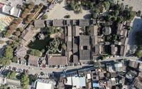 这是1月12日拍摄的余荫山房(无人机照片)。