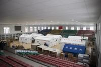 1月17日拍摄的设在望奎县体育馆内的移动方舱检测实验室。