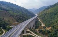 1月20日拍摄的思澜高速南婆河特大桥(无人机照片)。新华社记者 陈欣波 摄