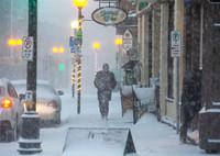 当地时间2021年1月21日,加拿大纽芬兰与拉布拉多省圣约翰斯,当地遭遇暴风雪天气。(ICphoto版权作品,请勿转载)