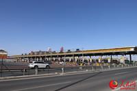 28日上午,京开高速西红门站车流通畅。人民网鄂智超摄