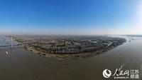 航拍长江绿色生态美景。孟德龙摄