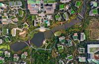 海南生态软件园园区(2020年4月1日摄,无人机照片)。新华社记者 郭程 摄