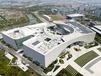 4月15日,俯瞰扬州运河大剧院主体建筑。