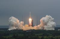 中国空间站天和核心舱发射任务成功。新华社记者 杨冠宇 摄