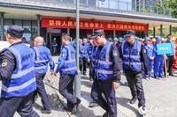 南京:鼓楼未雨绸缪保安全,防汛演练迎汛期。朱宇晨摄