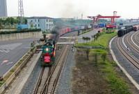 5月10日,在南京尧化门货场,南京至蒂尔堡中欧班列首发开行(无人机照片)。