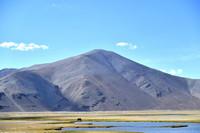 这是5月13日在西藏定结县拍摄的湿地风光。
