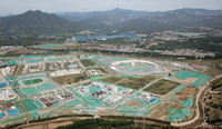 5月24日拍摄的建设中的北京怀柔综合性国家科学中心(无人机照片)。